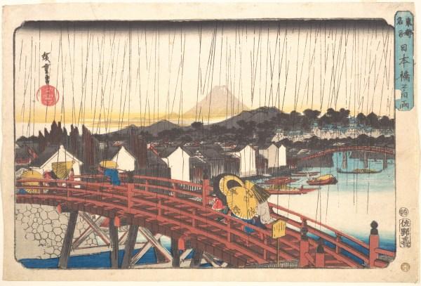 Utagawa Hiroshige Sunshower Nihonbashi Japan Edo