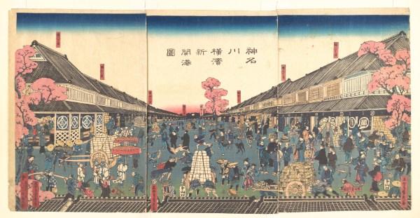 Utagawa Gountei Sadahide Newly Opened Port Of