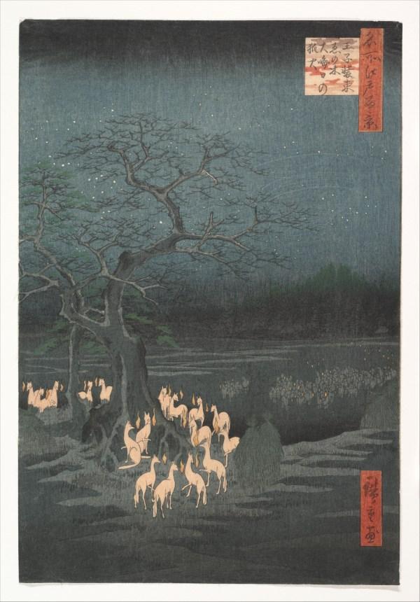 Utagawa Hiroshige Year' Eve Foxfires
