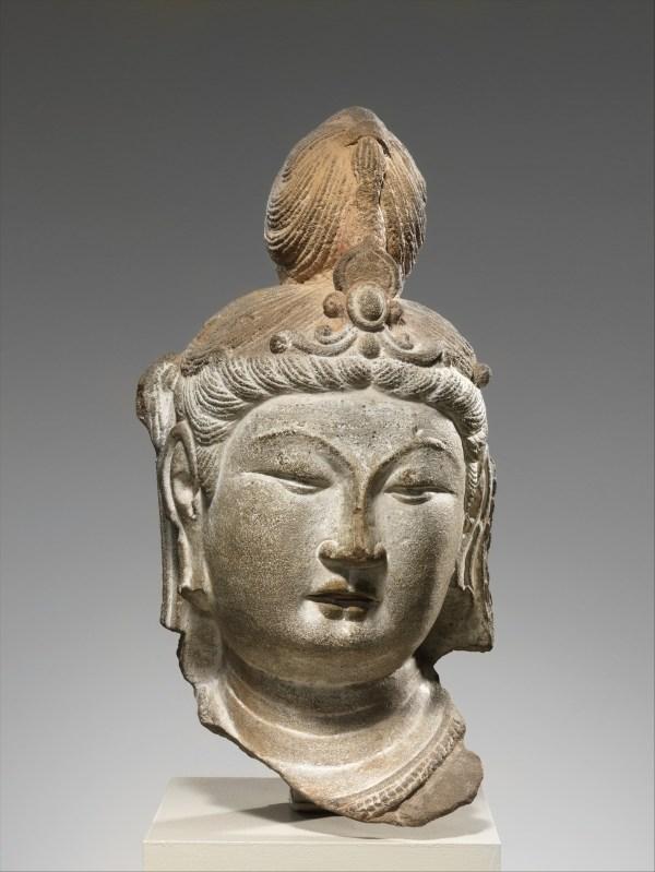 Head Of Bodhisattva China Tang Dynasty 618 907