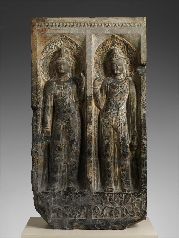 Stele With Bodhisattvas Avalokiteshvara Guanyin And