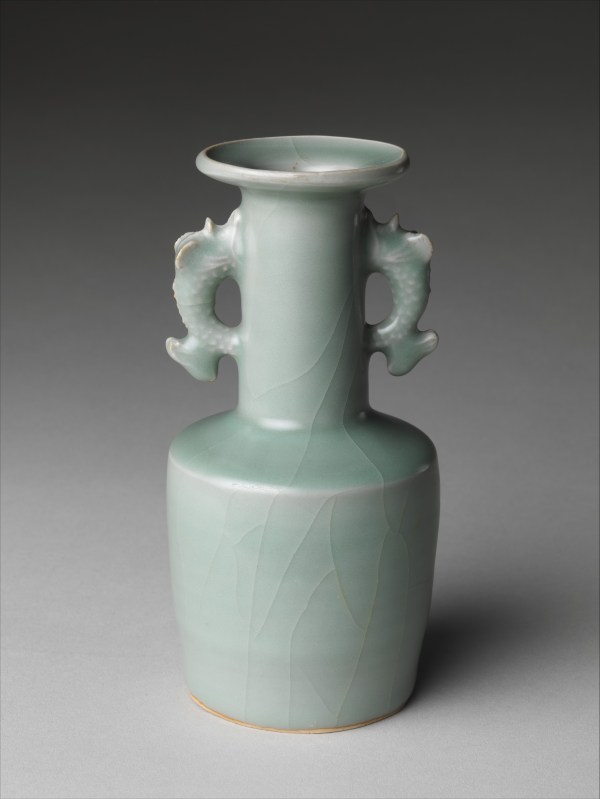 Vase With Dragonfish Handles China Southern Song