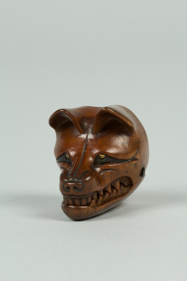 Netsuke Of Fox Mask With Movable Jaw Japan Edo Period 1615 1868 Met