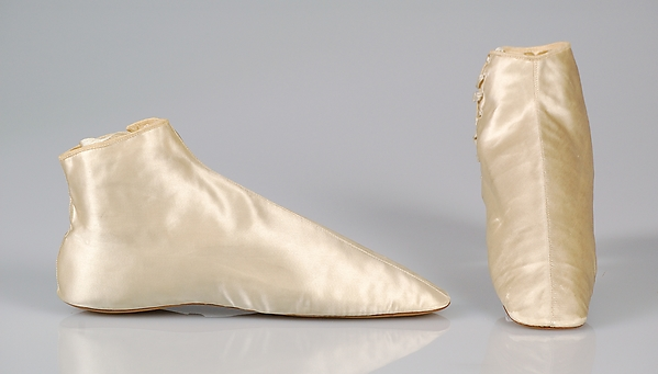 Silk Satin Wedding Boots, circa 1854