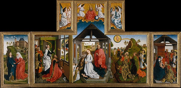 Workshop Of Rogier Van Der Weyden The Nativity South
