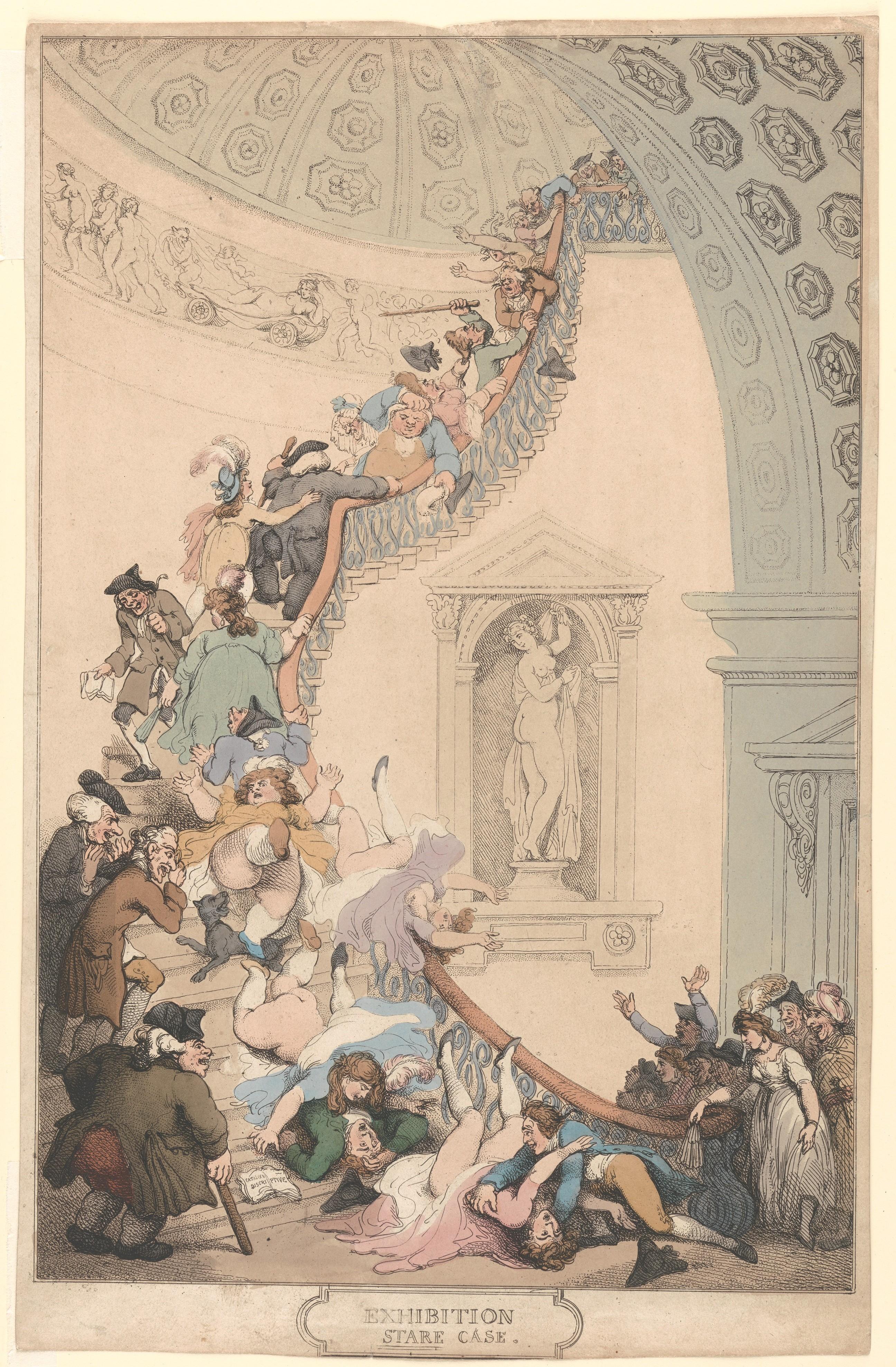 Thomas Rowlandson  Exhibition Stare Case  The Met