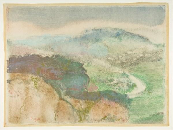 Edgar Degas Landscape Met