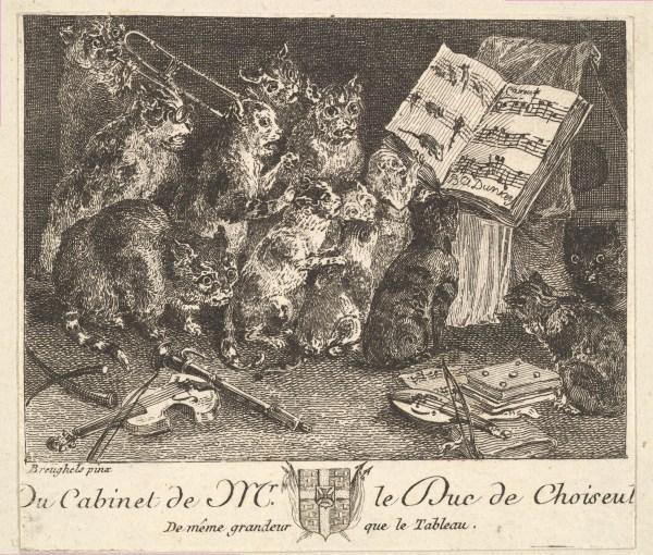 Balthasar Anton Dunker Concert Of Cats