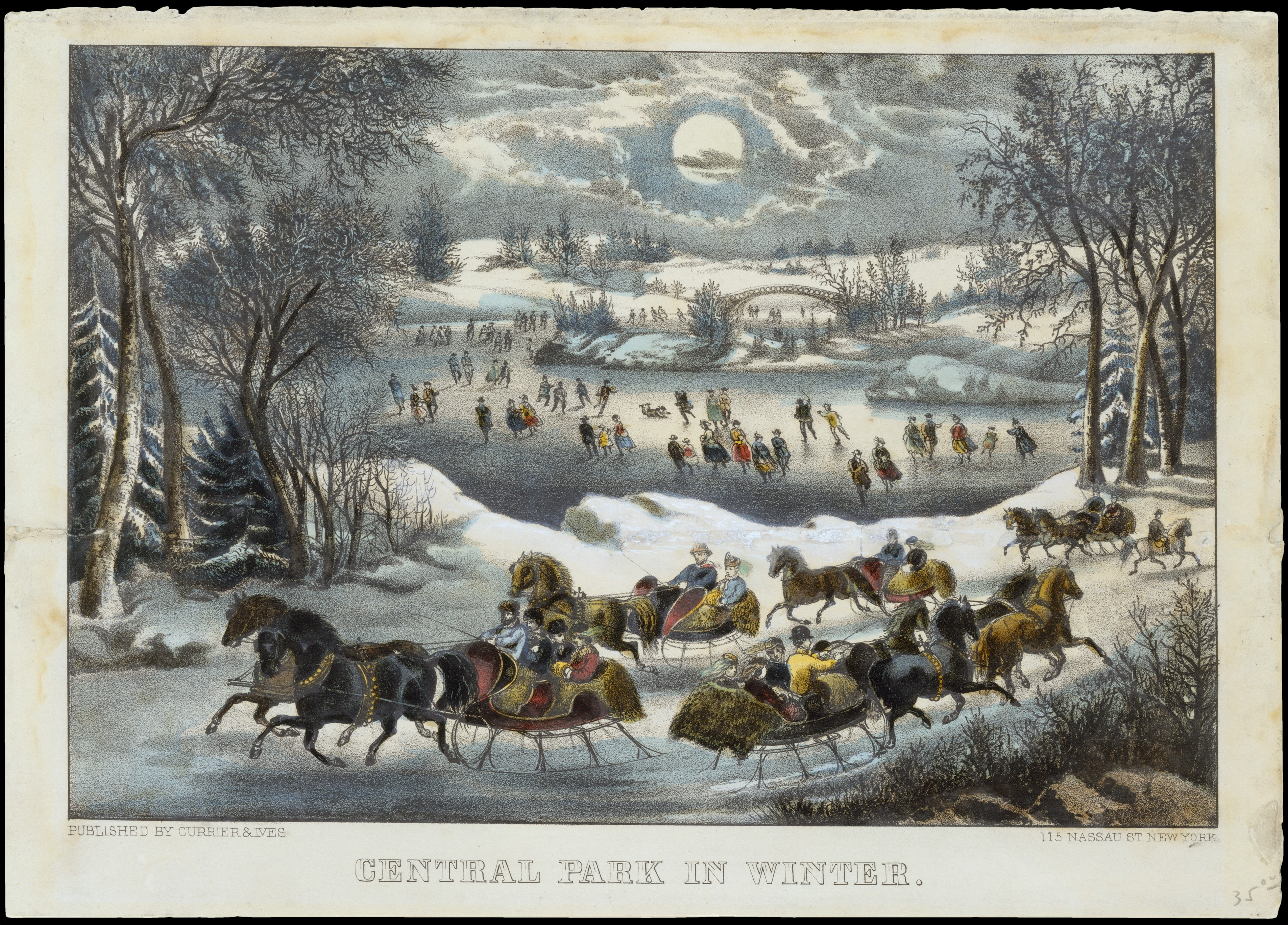 Currier Amp Ives Central Park In Winter The Met