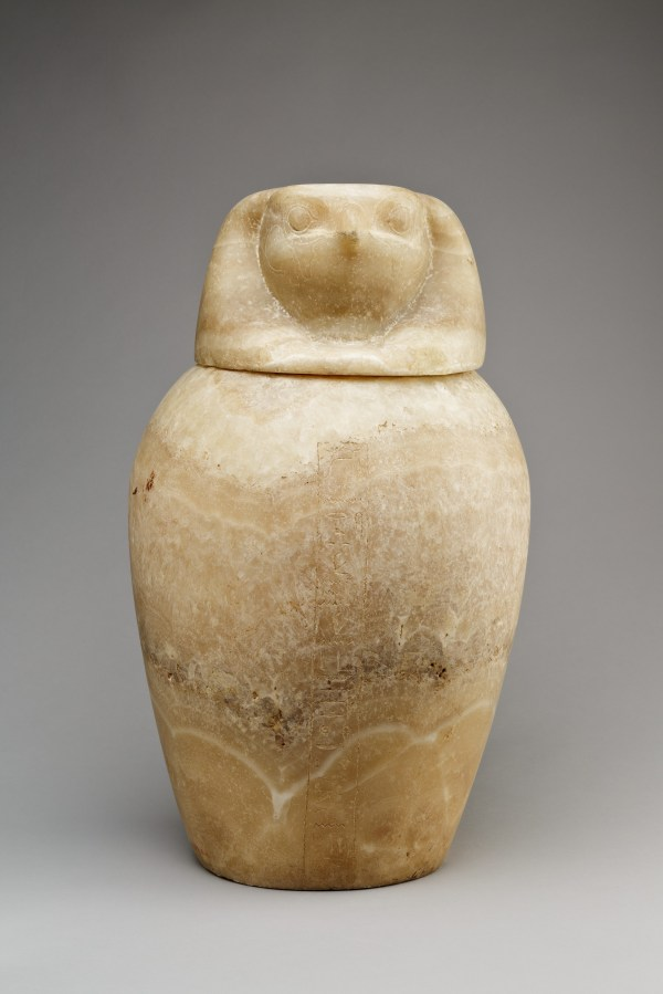 Canopic Jar With Falcon-headed Lid Qebehsenuef Late