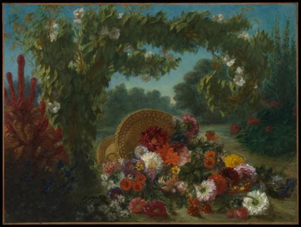 Eugne Delacroix Basket Of Flowers Met
