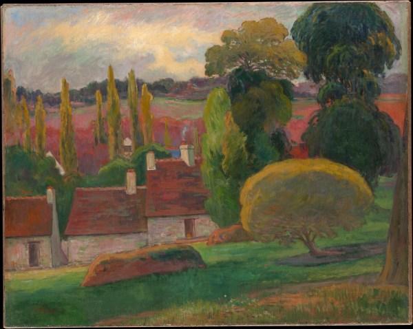 Paul Gauguin Farm In Brittany Met