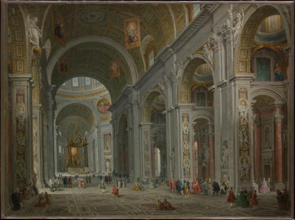 Giovanni Paolo Panini Interior Of Saint Peter' Rome