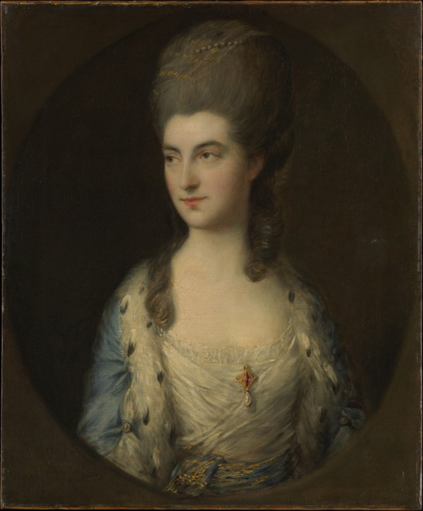 Thomas Gainsborough Portrait Of Young Woman Called Sparrow Met