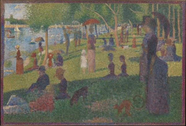 "Georges Seurat Study "" Sunday La Grande Jatte"