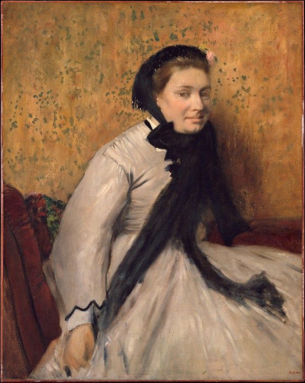 Edgar Degas Portrait Of Woman In Gray Metropolitan Museum Art