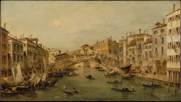 Workshop Of Francesco Guardi Venice Rialto Met