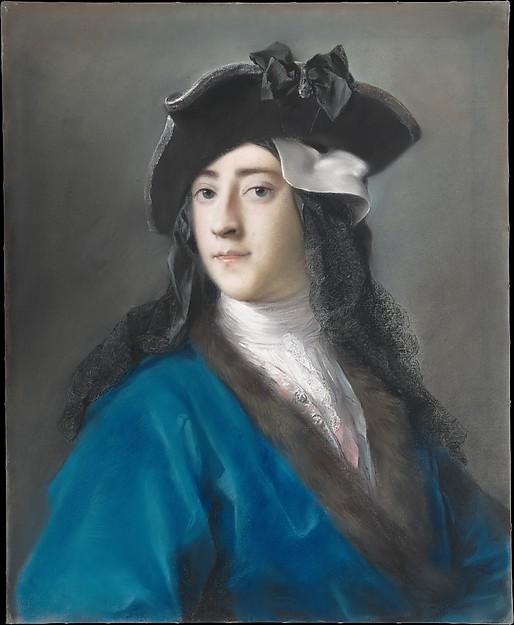 Gustavus Hamilton (1710–1746), Second Viscount Boyne, in Masquerade Costume, Rosalba Carriera (Italian, Venice 1673–1757 Venice), Pastel on paper, laid down on canvas