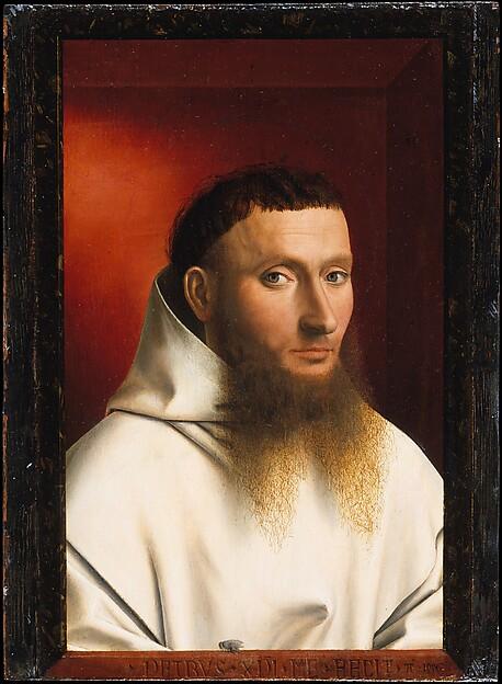 Petrus Christus, Ritratto di monaco certosino (1446, Metropolitan Museum, New York)