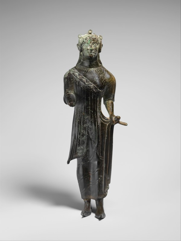 Bronze Statuette Of Young Woman Etruscan Archaic