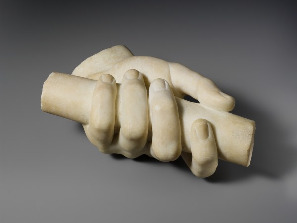 Marble Left Hand Holding Scroll Roman Imperial
