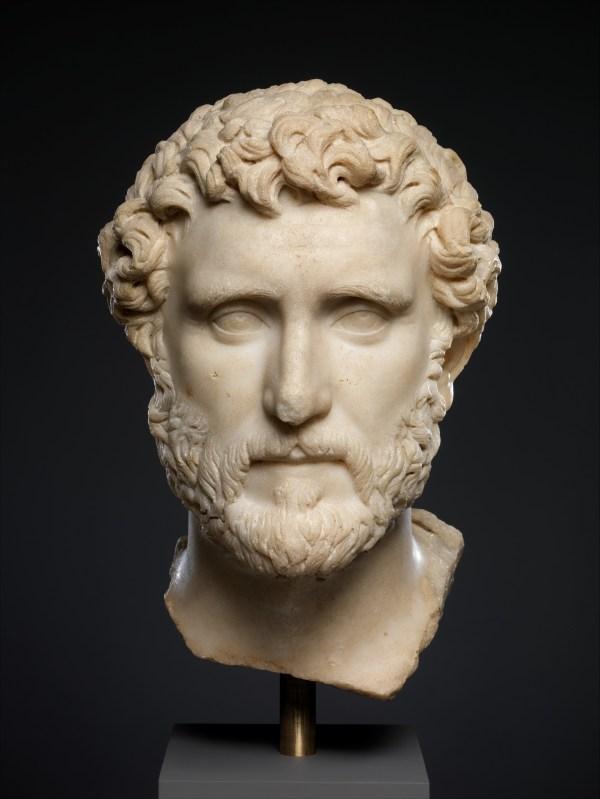 Marble Portrait Of Emperor Antoninus Pius Roman