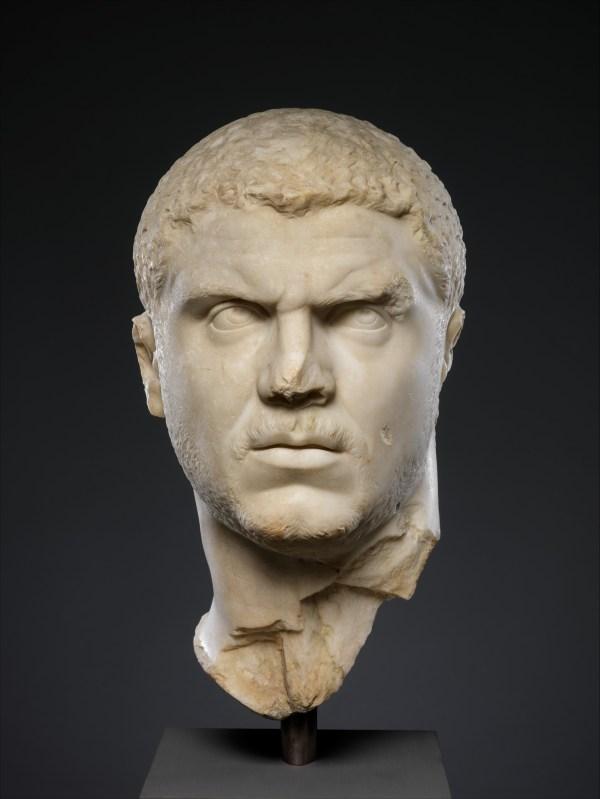 Marble Portrait Of Emperor Caracalla Roman Severan