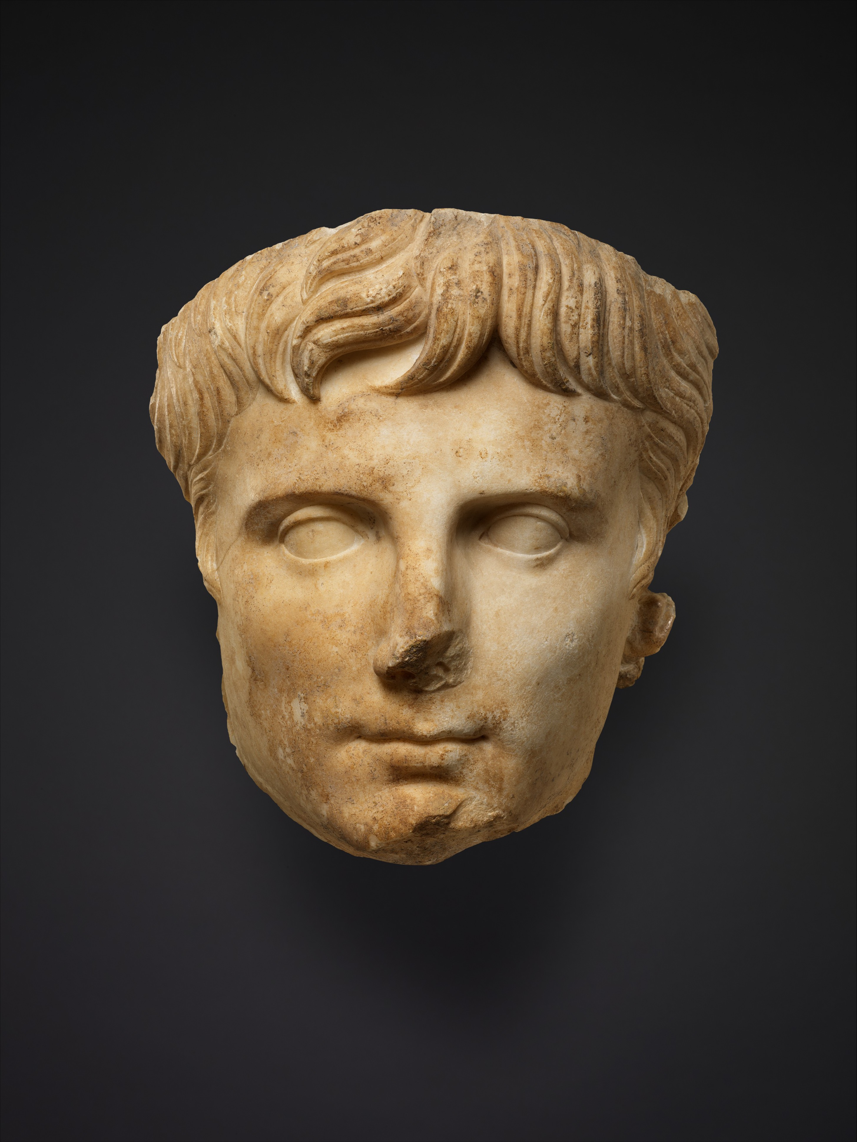 Marble portrait of the emperor Augustus  Roman  Early