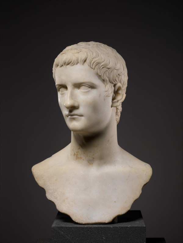 Marble Portrait Bust Of Emperor Gaius