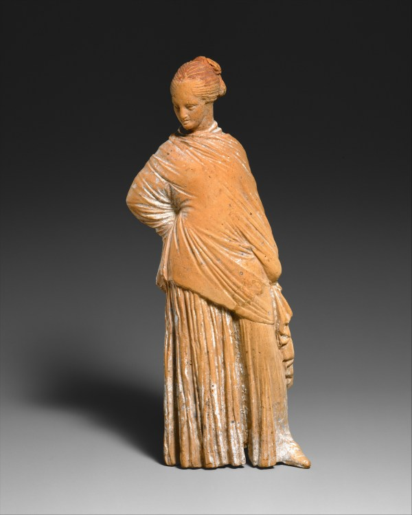 Terracotta Statuette Of Standing Woman Greek