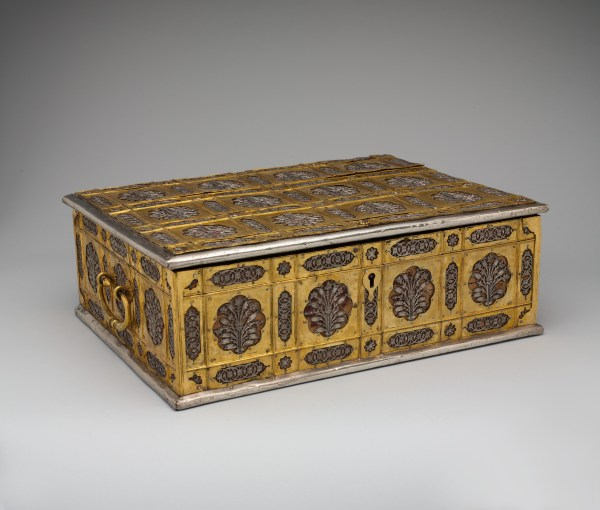 Writing Box With Lattice And Flower Design Met