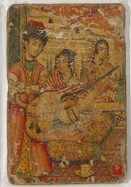 Couvercle de poudrier, Iran, fin XVIIIe, Met Museum, licence CC0