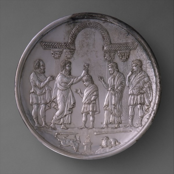 Plate With David Anointed Samuel Byzantine Met