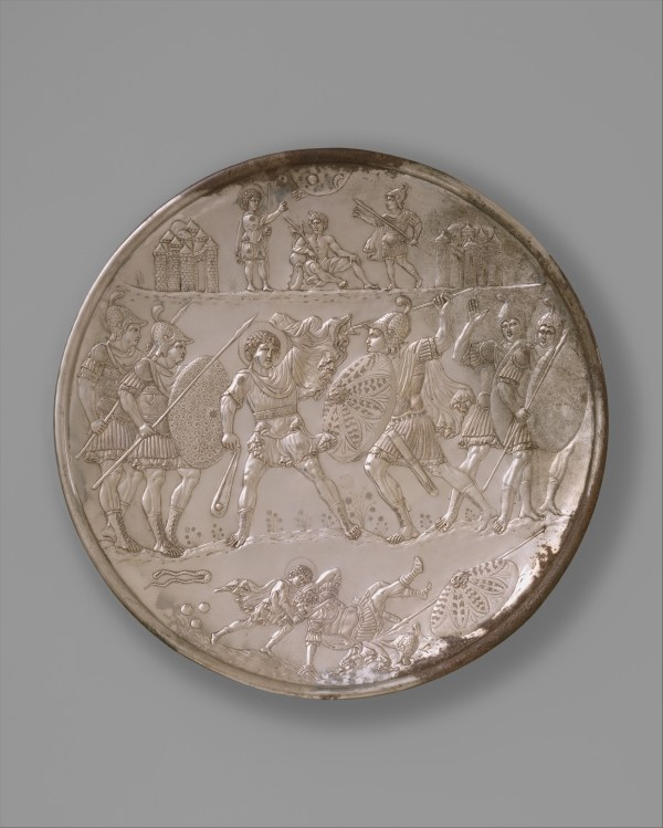 Plate of the Battle with David and Goliath