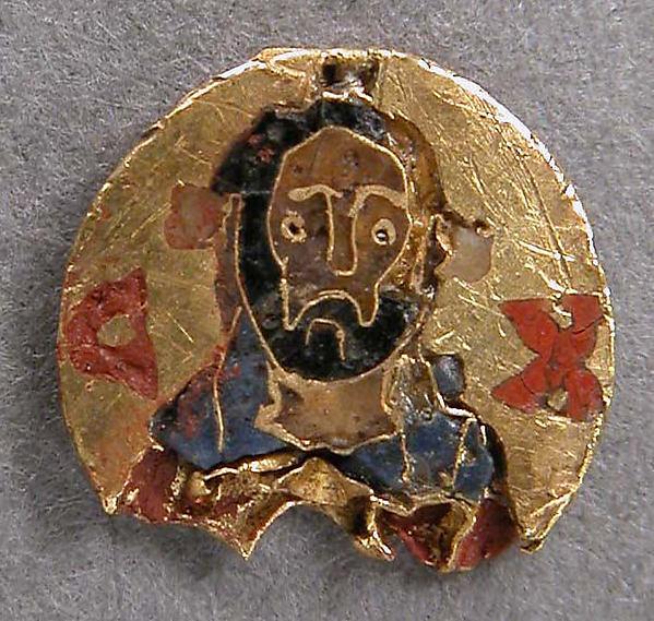 Medallón esmaltado del siglo XI. Metropolitan Museum.