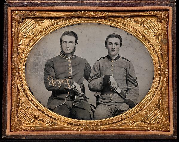 [Captain Charles A. and Sergeant John M. Hawkins, Company E,