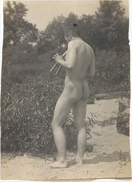 Nude, Playing Pipes, Thomas Eakins