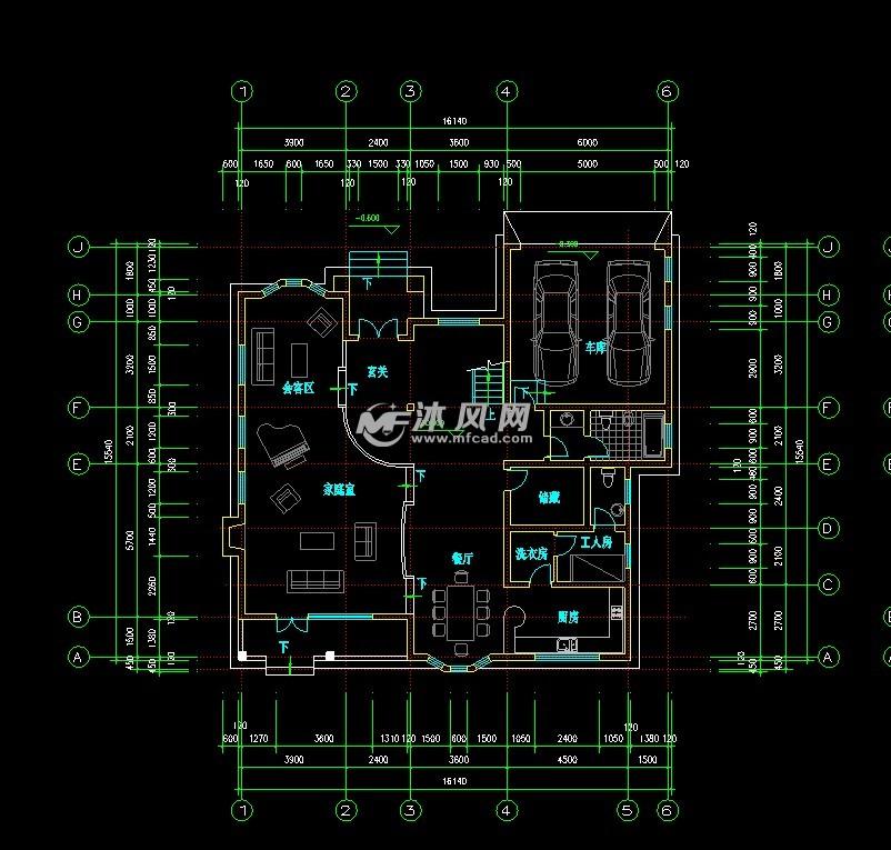 redesign kitchen update cost estimate 某a3型高级别墅建筑全套cad施工图 - autocad别墅图纸下载 沐风图纸