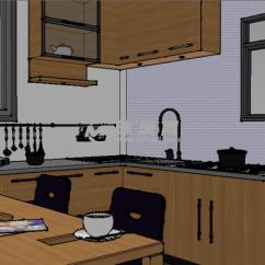 Complete Kitchen Pendant Lighting Ideas Su完整厨房模型设计建模 Sketchup完整室内场景模型 沐风图纸 1 4 Su完整厨房模型设计建模模型图