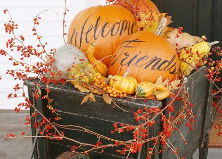 Pumpkins And Fall Leaves Wallpaper Decorate Your Desktop With Our Halloween Photos Midwest