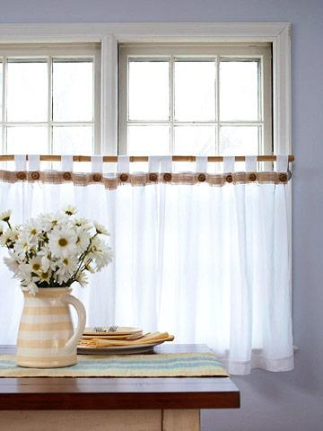 kitchen shades antique furniture our favorite window treatments midwest living cafe curtains let the light shine