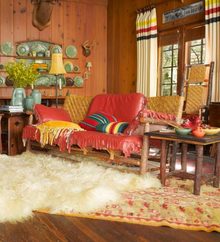 rustic cabin living room decorating ideas rugs ikea decorate with style midwest