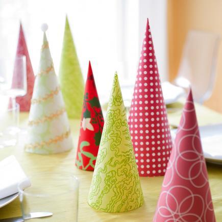 christmas centerpiece ideas paper trees