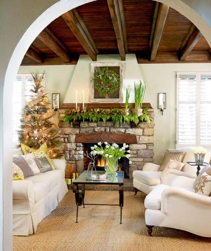 beautiful living rooms at christmas window treatment room 25 midwest sparkling sophistication in the
