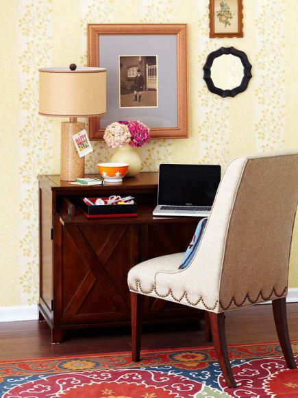 living room desk modern wall shelves for 20 ways to create a home office space midwest flexible workspace