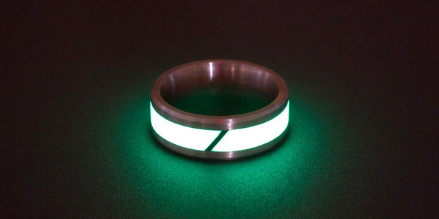 Touch Of Modern Glowing Titanium Amp Carbon Fiber Rings