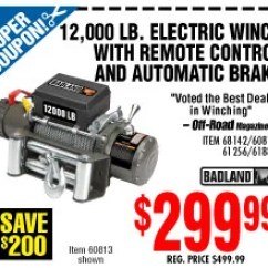 Harbor Freight 12000 Winch Wiring Diagram Honeywell Thermostat Rth6350d1000 Badland Coupon Nashbar Code 2018 Free Shipping 3500 Posted By Doreen H Our Best Curators Help You Get Big Savings On