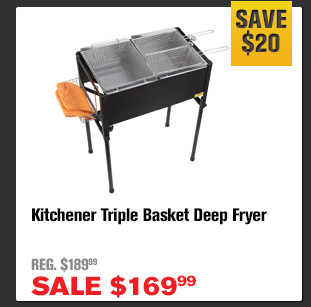 kitchener triple basket deep fryer pendant light kitchen northerntool com father s day sale starts now milled buy item 304470 for 169 99