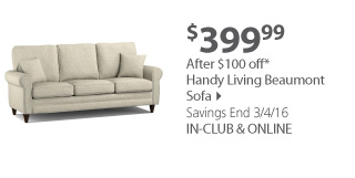beaumont sofa bjs cleaning machine india wholesale club comfort is a click away milled handy living