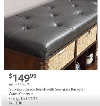 beaumont sofa bjs how to clean a white fabric wholesale club comfort is click away milled guahoa storage bench